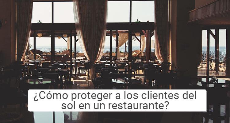 ¿Cómo proteger a los clientes del sol en un restaurante?